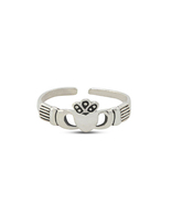 New Stylish Adjustable Jewelry 925 Silver Women's Design Claddagh Toe Ring - £8.09 GBP