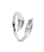 Women's Fashion 14k White GP Silver 925 Vintage Adjustable Jewelry Leaf ... - £8.09 GBP