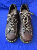 DR DOC MARTENS 9861 Womens  Brown Leather 8 Eye 2 Hook Lace-Up Oxfords  ... - $49.49
