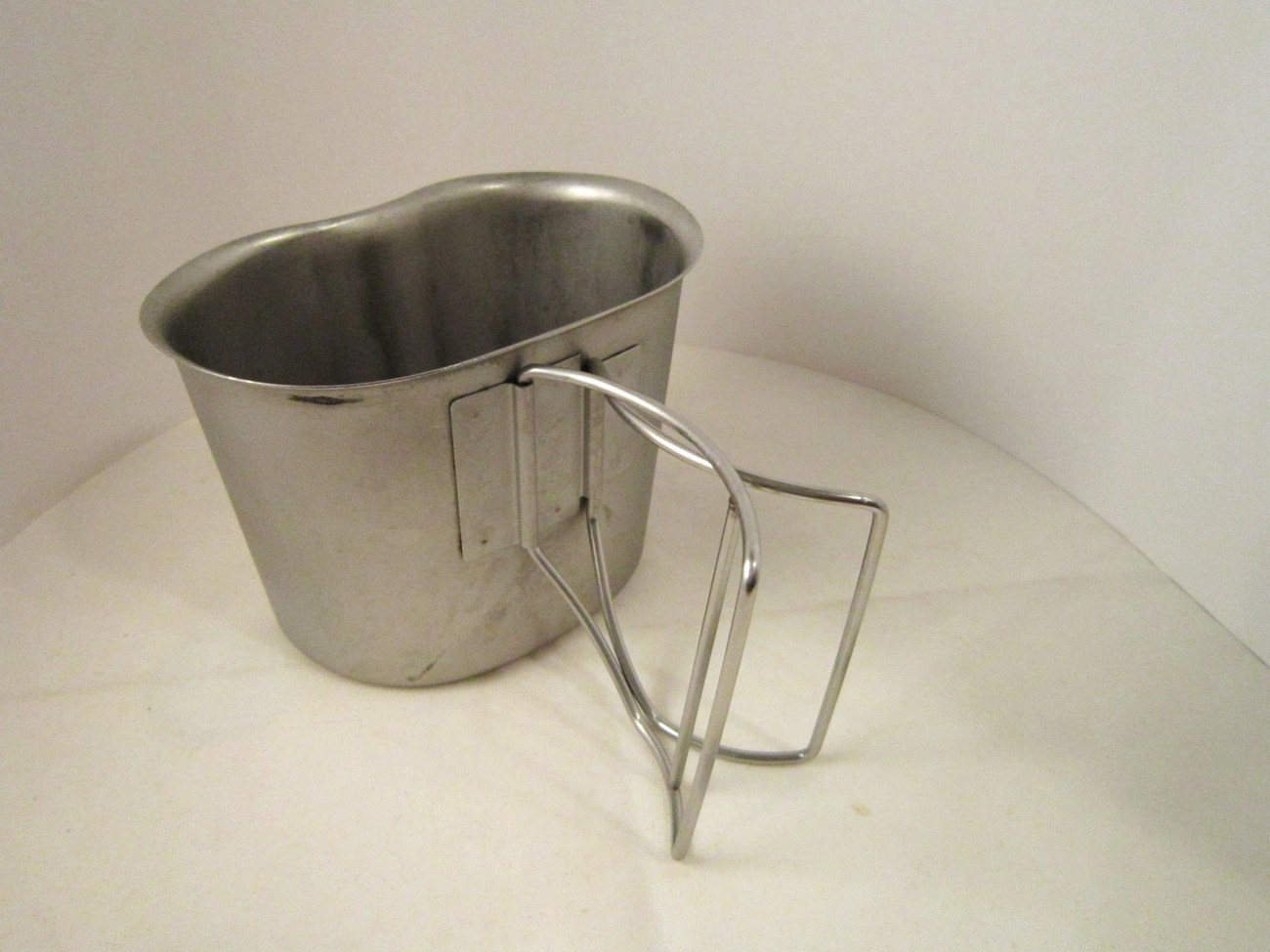Canteen and Metal Cup US Military 1980s and Desert Storm era