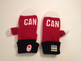 HUDSON'S BAY CANADA GLOVES YOUTH ONE SIZE MITTENS OFFICIAL OUTFITTER RED... - $428,89 MXN