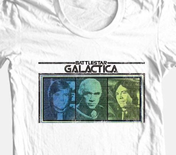 Battlestar Galactica T-shirt Originial TV series retro 70's 80's cotton tee