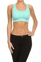 ICONOFLASH Women's Space Dye Racerback Sports Bra with Removable Padding, (Sk... - $34.64