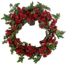 Christmas Wreath Handmade Holiday Red Berry  - $29.00