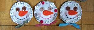Kerr Jar Lid Country Crafted Felt Button Snowman Ornaments OOAK image 3