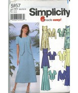 Simplicity 5957 Misses Dress in Two Lengths, Jacket Size 6, 8, 10, 12 uncut - $2.00