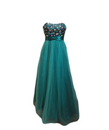 "Masquerade Long ""Bridesmaid Dress"" ""Strapless Gown"" ""Formal Dress"" Green... - $89.99"