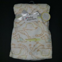"NEW Baby Starters Dinosaurs Fleece Blanket Lovey Brown Green SOFT 30"" x 40"" Gift - $29.65"