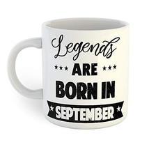 Legends Are Born In September Coffee Mug - $12.13