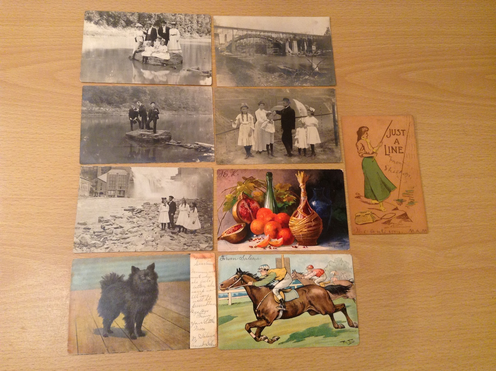 Lot of 9 Antique Assorted Postcards, all from 1900's