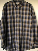 Carhartt Shirt 2XL Blue Plaid Long Sleeve Button Down Mens XXL  - $49.99