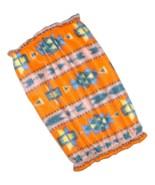 Dog Snood-Orange Southwest Earthtone Fleece-Basset Hound-Spaniel-Puppy R... - $10.50