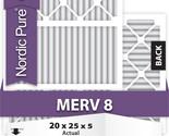 20x25x5 Honeywell Replacement Air Filters MERV 8 Qty 1