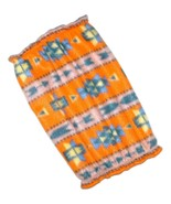 Dog Snood-Orange Southwest Fleece-Cavalier King Charles Spaniel-Puppy SHORT - $9.50