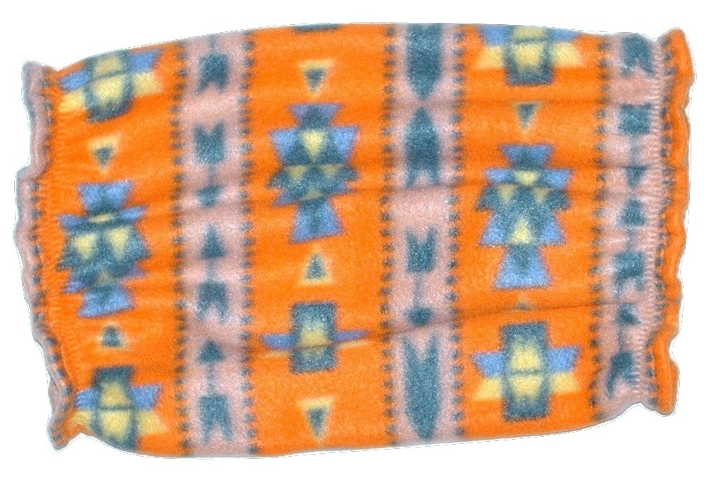 Dog Snood-Orange Southwest Fleece-Cavalier King Charles Spaniel-Puppy SHORT