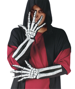 SKELETON GLOVE AND WRIST BONE, Holloween Costume - New - $35.04