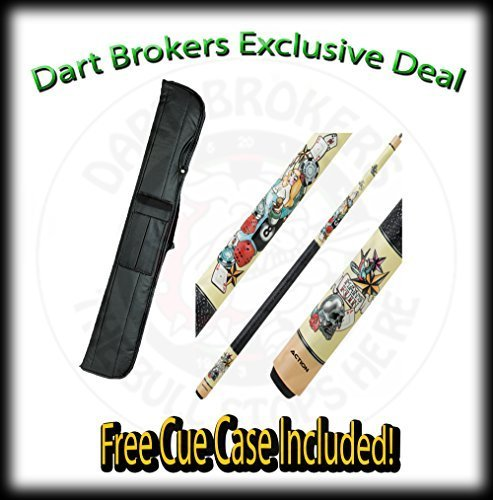 18 Oz Action Adv75 White Stained Maple with Pinup Girl Overlay, Two-Piece Bil...