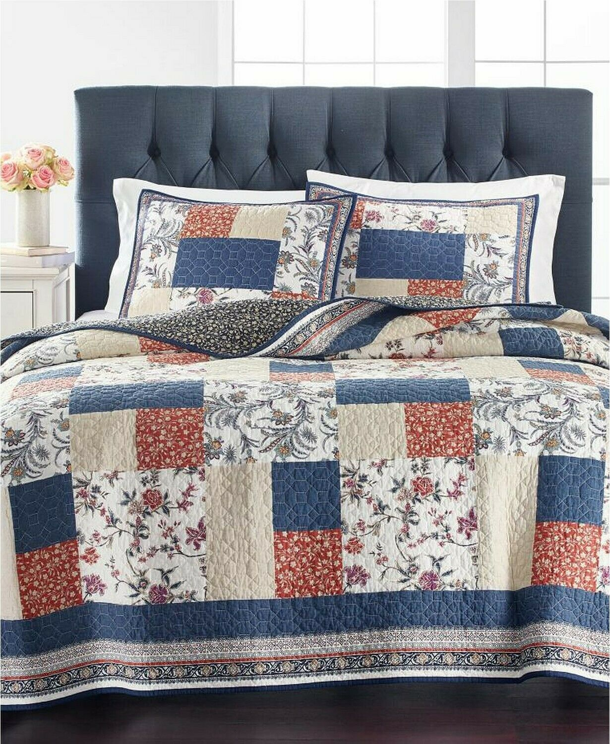Martha Stewart Collection Mind Your Manor Floral Patchwork Full/Queen Quilt - $92.13