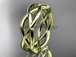 14kt yellow gold wedding band ADLR392G - $950.00