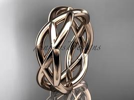 14kt rose gold wedding band ADLR392G - $950.00