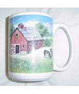 Houston Harvest Chestnut Creek Old Farm Tractor Barn Ceramic Coffee Mug ... - $9.95