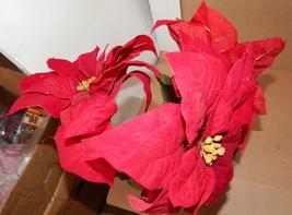 """Ashland Fall Hollween & Christmas Decor Stems Red Velvet Flowers 3ea 27""""... - €6,96 EUR"""