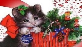 Christmas Cat Magnet #13 - $7.99