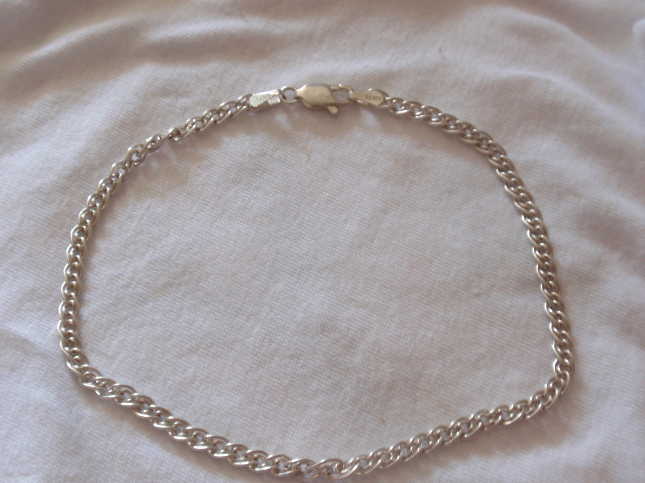Silver chain anklet 3