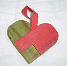 Wooden Heart Christmas Ornament  - $3.99