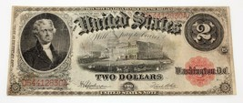 1917 $2 United States Note in Fine Condition Fr #60 - $123.74