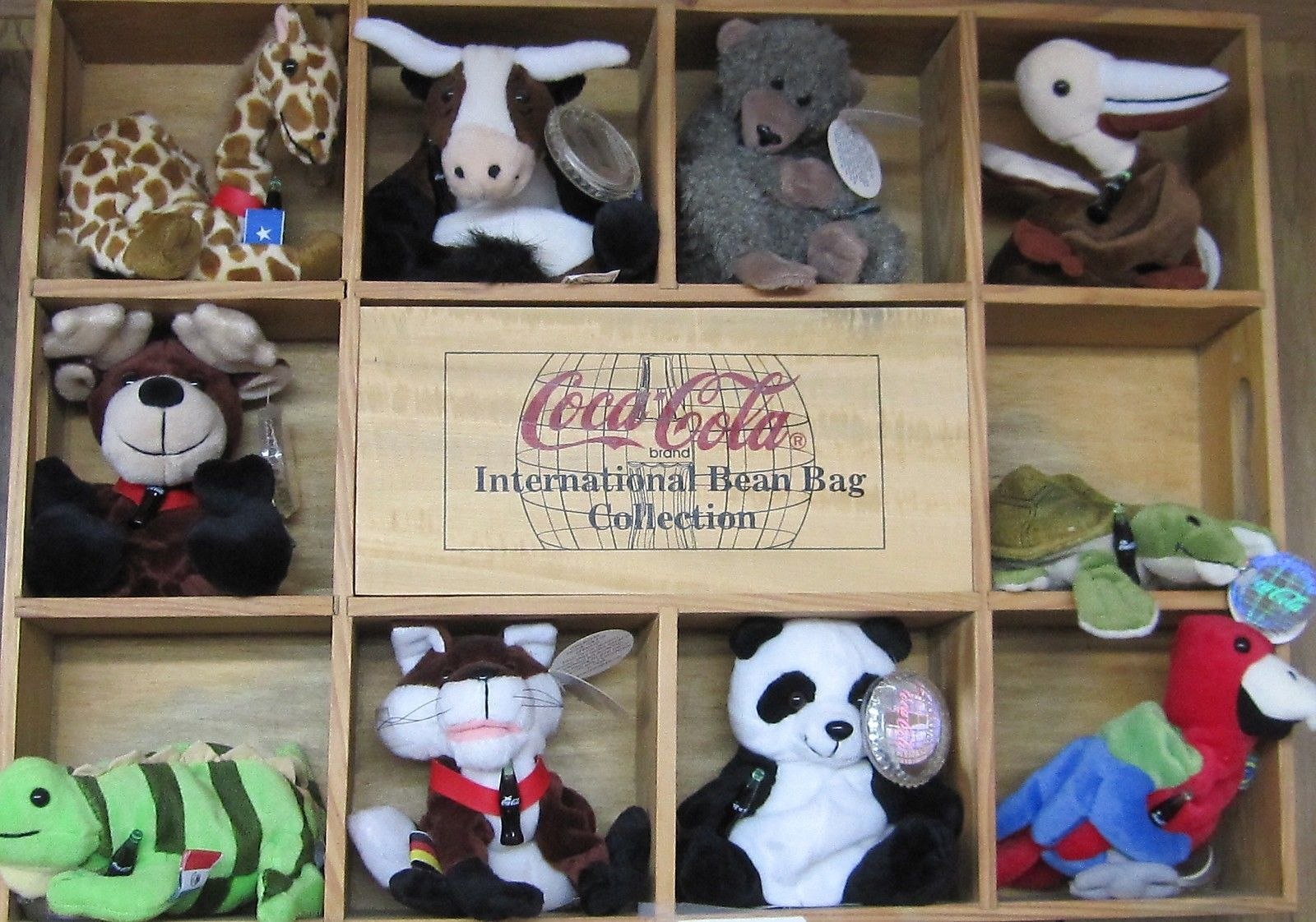 Primary image for Coca-Cola 10 Different Bean Bag International Collection - Set 2 - NEW
