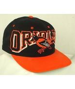 Baltimore Orioles Big Logo Real Bird Black Orange Bill Baseball Hat Cap EUC - $24.99