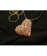 GP CRYSTAL ADORNED HEART  NECKLACE - $7.00