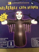 New Halloween 4' LED Airblown Inflatable Grim Reaper Yard Decoration - $24.74