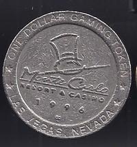 MONTE CARLO 1996 Las Vegas Gaming Token, vintage - $9.95