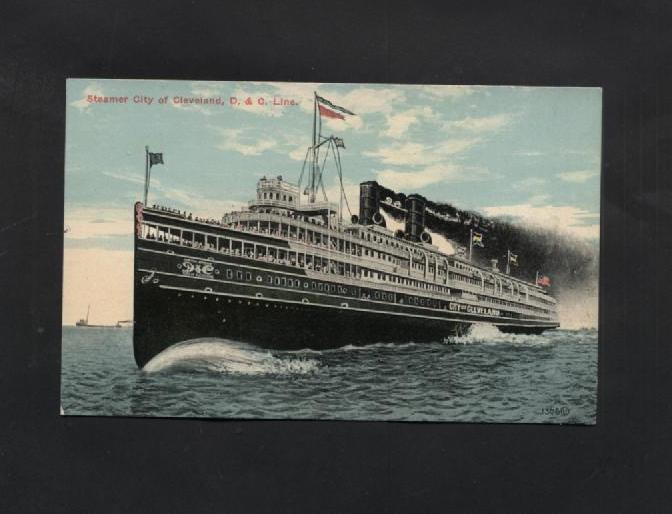 Vintage Postcard Steamer Boats City of Cleveland D & C Line Ohio