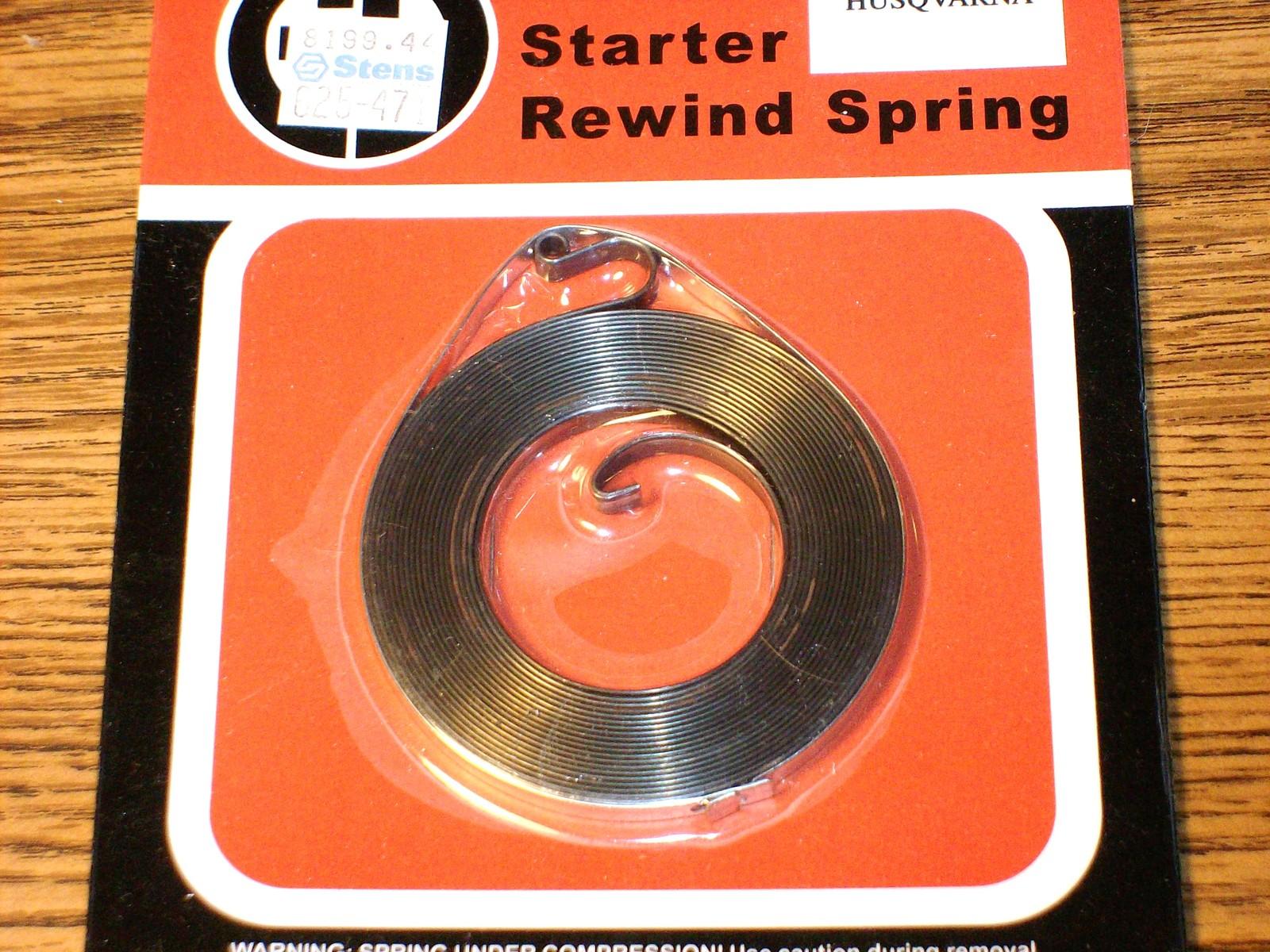 Husqvarna 140, 165R, 240, 244, 340 chainsaw recoil starter spring 501460402 - $9.97