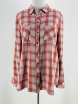Joie Women's Plaid Print Long Sleeve Collared Button-Down Shirt Size Medium - $24.75