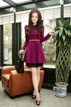 Spring Korean Fashion Women Breasted Slim Elegant Lace Long Sleeve Mini ... - $18.50