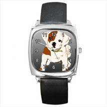 BULLDOG PUPPY SILVER-TONE WATCH & 5 OTHER STYLES WOMAN MANS CHILD XMAS GIFT - $25.99