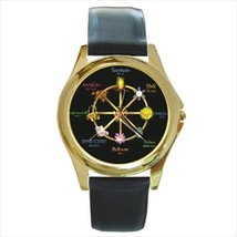 WICCAN PAGAN CALENDAR GOLD-TONE WATCH & 5 MORE STLS SILVER, SPORT, CHARM... - $17.84+