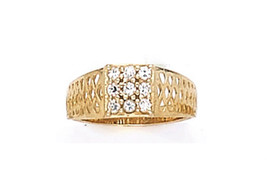 14 K Gold Baby Ring W/ Cz Stone On Sale This Week - $57.81