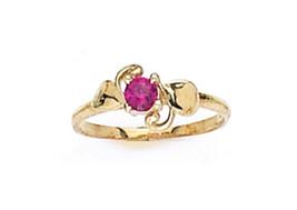 14 K Gold Elegant Baby Ring W/ Cz Stones On Sale This Week - $40.17