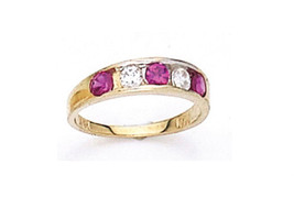 14 K Gold Elegant Baby Ring W/ Five Cz Stone On Sale This Week - $54.87