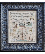 Polly Kirby sampler cross stitch chart Barbara Ana Designs - $14.40