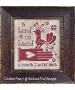 Bird In Hand cross stitch chart Barbara Ana Designs - $10.80
