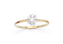 14 K Gold Elegant Beautiful Baby Ring W/ Cz Stone On Sale This Week - $29.39