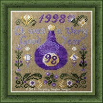 A Good Year cross stitch chart Tempting Tangles - $10.80