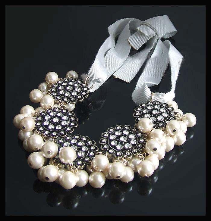 J crew necklace pearls rhinestones ribbon2