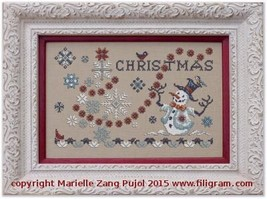 Christmas & Snowflakes cross stitch chart Filigram - $9.90